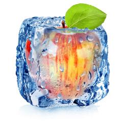 Frozen red apple