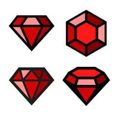Ruby icons set