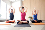 Fototapeta Yoga class