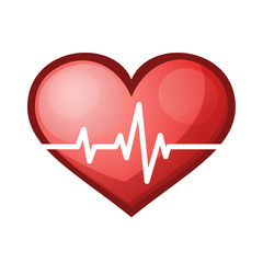 Heart beat rate icon, healthcare illustration