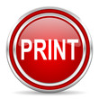 print red glossy icon