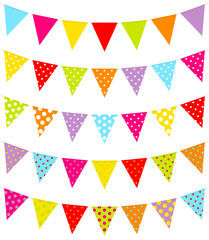5 Seamless Festoons Color Dots