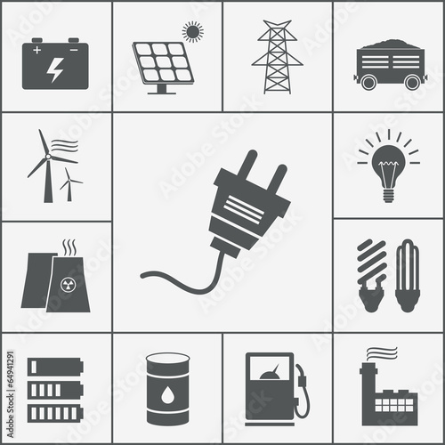 Electricity and Power icons - 64941291