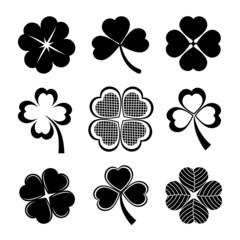 shamrock and four leaf clover