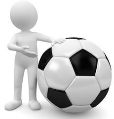 3d männchen mit Fussball