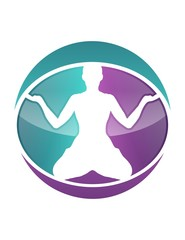 global logo symbol icon yoga fitness meditation health