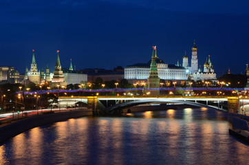 Московский Кремль ночью