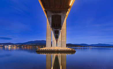 Tasman Bridge Under Light