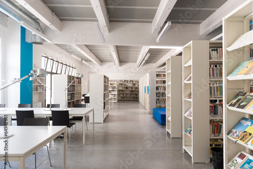 Leinwanddruck Bild Biblioteca