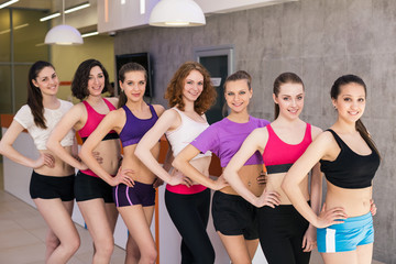 Group of fitness class