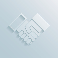 Paper handshake icon