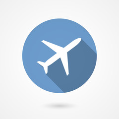Trendy airplane icon