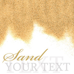 The sand isolated on white background