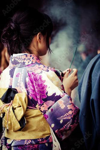 Foto op Plexiglas Japan Japanese women wear traditional Kimono,Kiyomizu temple,Kyoto
