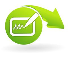 signature sur web symbole vert