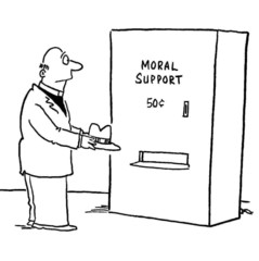 Moral Support:  $0.50