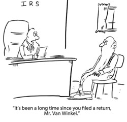 IRS:  It's been a long time since you filed a return...