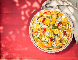 Savory egg quiche for a summer picnic lunch