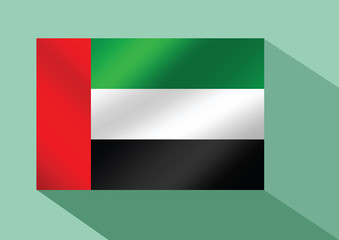 the United Arab Emirates flag UAE