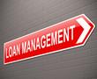 Loan management concept.