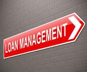 Loan management concept.