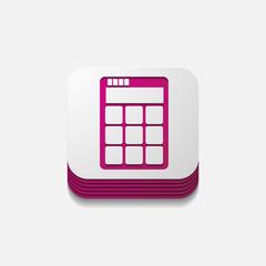 square button: calculator