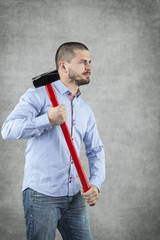 guy with a hammer