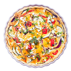 Savory tart with clipping path