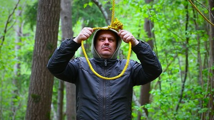 Man with noose in the  woods episode 4
