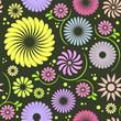 Folk flower seamless pattern