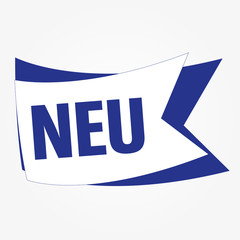 Neu Button Vektor