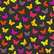 Vector seamless pattern with colorful butterflies