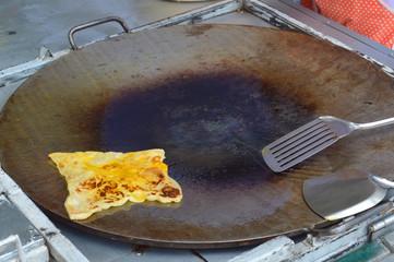 flat roti pancake-like bread of Indian