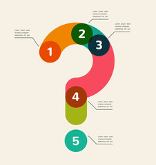 Question mark abstract background infographic