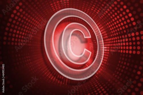 Composite image of copyright symbol