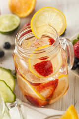 Healthy Spa Water with Fruit