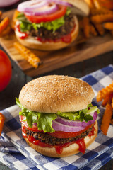 Homemade Healthy Vegetarian Quinoa Burger