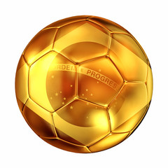 Brazil golden soccer ball