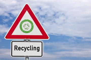 Schild Recycling © Matthias Buehner