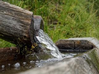 Sprudelndes Quellwasser