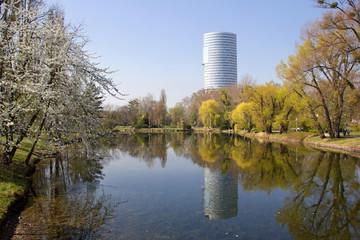 Frühling im Wasserpark Wien