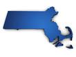 Map Of Massachusetts 3d Shape
