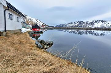 Norwegian sea bay in April