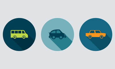 Vehicle icons, car buttons