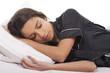 young woman sleep