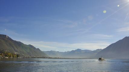 Locarno, Lago Maggiore, Seeufer, Seerundfahrt, Tessin, Schweiz
