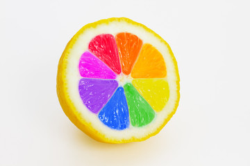 Multicolored lemon