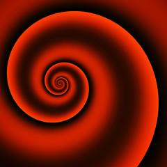 3 D red spiral
