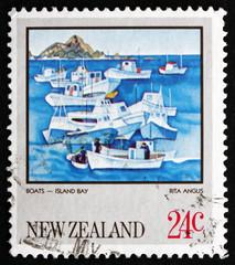 Postage stamp New Zealand 1983 Island Bay, by Rita Angus