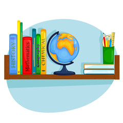 bookshelf student